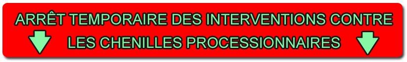 Iratech France - Arrêt des interventions contre les chenilles processionnaires